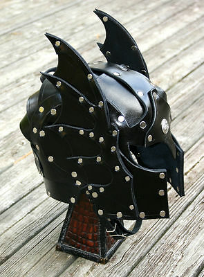 Hawk Faced Leather Helmet Fantasy Armor SCA LARP Helm medieval armour knight