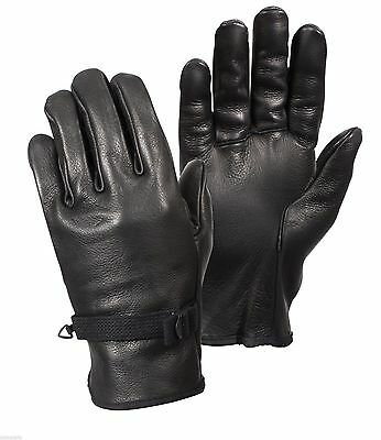 Gloves Leather Black D-3A Various Sizes Available Rothco 3383