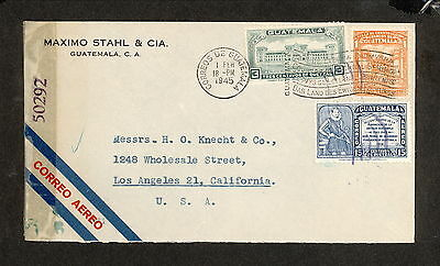 PH4878 1945 Military Postal History Cover WWII Guatemala to United States