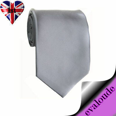 SILVER Boys Girls Satin Elasticated NECK Tie Wedding Party Pre-tied Bow New UK