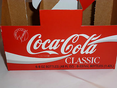 5 Vintage 1986 Unused Coca Cola Classic Carriers! Coke Classic! Cardboard! New!