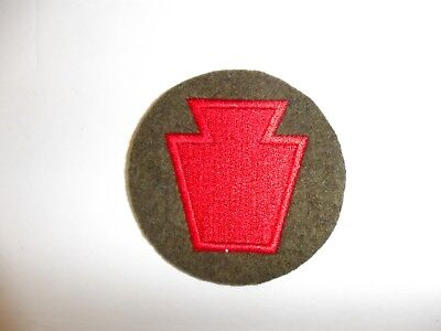 b0892 US Army WW 2-1930's 28th Infantry Division round PA13