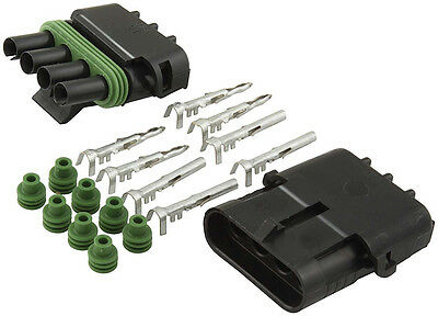Weather Tight Pack Sealed Connector 4 Pin Male Female Kit Msd Ignition  8171