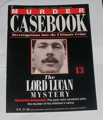 Murder Casebook Number 13 - The Lord Lucan Mystery - Richard Bingham