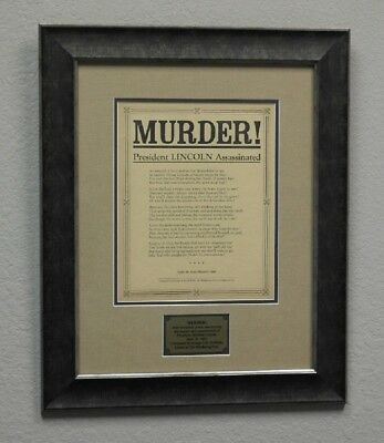 Abraham Lincoln Funeral March Framed Display