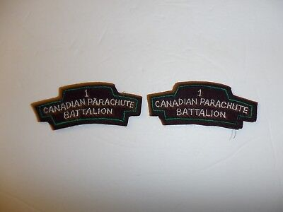 b0382  WWII 1st Canadian Parachute Battalion patch pair