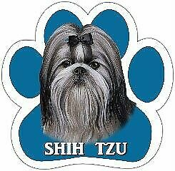 Shih Tzu Dog Paw Shaped Vinyl Car UV Coated Magnet Locker Fridge 13125-39