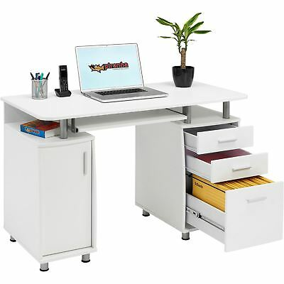 Computer Desk with Storage & A4 Filing Drawer Home Office Piranha Emperor PC 2s