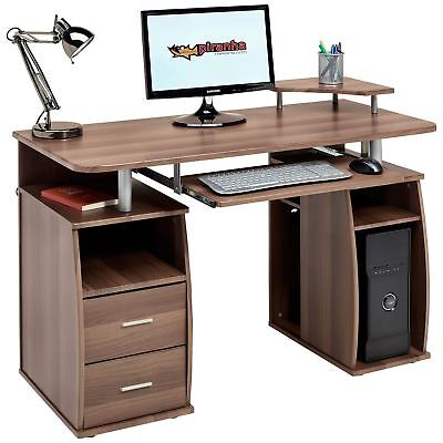 Computer Desk with Shelves Cupboard & Drawers Home Office - Piranha Tetra PC 5w