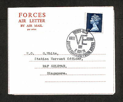 PH4651 1970 Military Cover Great Britain Forces Air Letter VE Day Postmark