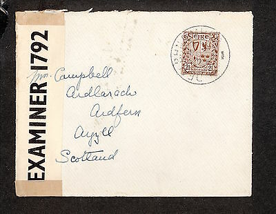 PH4653 1941 Military Postal History Cover WWII Ireland to Great Britain