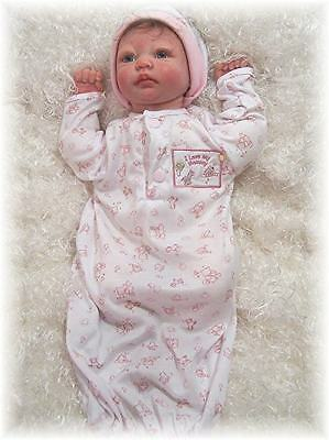 Reborn Doll Preemie Gown and Matching Cap  Pink