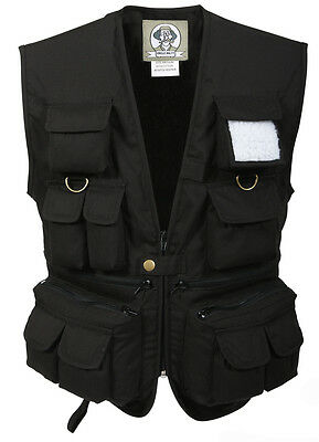 Vest Fishing Hunting Travel Kids Black Uncle Milty Various Sizes Rothco 8547