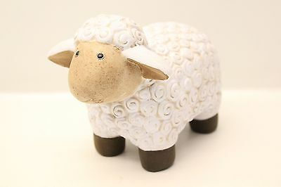 NEW 12cm Ceramic Smiling Sheep Ornament Very Cute Great Gift Idea