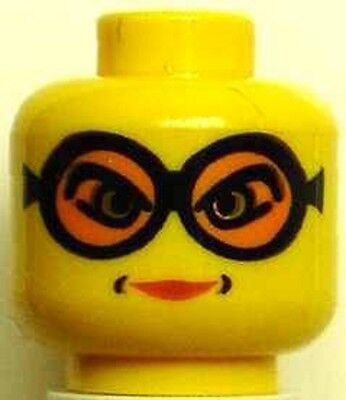 Madame Hooch Red Lipstick Minifig Goggles LEGO HARRY POTTER Head
