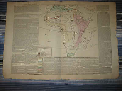 Huge Gorgeous Antique 1802 Colonial Africa Map Egypt Slave Coast Unknown Areas N