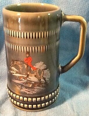 Fox Hunt Hunting Wade Large Mug Bluish Color
