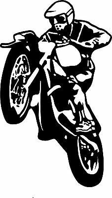 Medium Motocross Bike Vinyl Graphic Sticker Honda Suzuki Yamaha