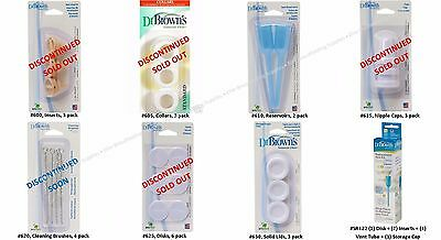 Dr Brown's Replacement Parts for Natural Flow Standard Neck Bottles, NEW