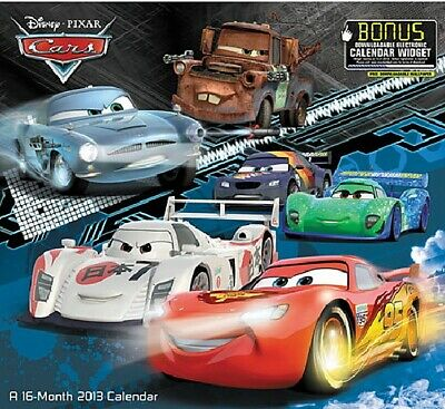 Walt Disney Pixar Cars Movies 16 Month 2013 Wall Calendar, NEW SEALED
