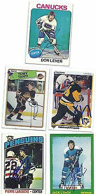 Pierre Larouche Signed Autographed Hockey Card Pittsburgh Penguins 1976 Topps