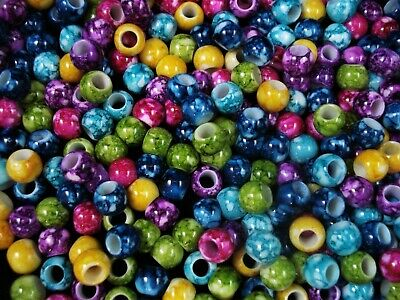 Crystal Glass 6mm Faceted Beads 100pc Mix Spacer Filler Jewellery FREE POSTAGE