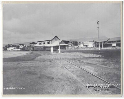 RARE OR&L MAIN STATION 1900'S HAND PRINTED 8x10 INCH SILVER HALIDE PHOTOGRAPH