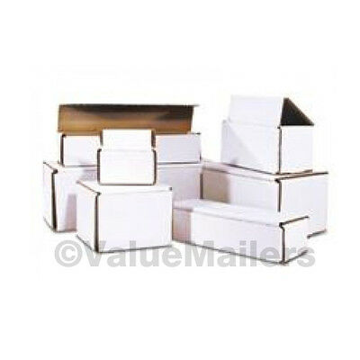 500 - 8 x 4 x 2 White Corrugated Shipping Mailer Packing Box Boxes