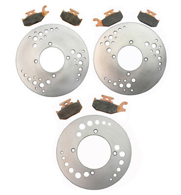 Front Rear Brake Rotors and Pads - Can Am Outlander Max 400 STD 4x4 - 2007 2008