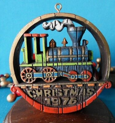 Hallmark Ornament RARE! 1976 Nostalgia Locomotive V$115.00