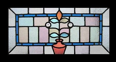 Fabulous Flower Pot Antique English Art Nouveau Stained Glass Window • CAD $1,672.73