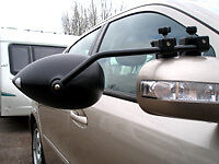 PAIR of Milenco Aero Caravan Car Towing Mirrors Rear View Mirror Tow Flat Glass