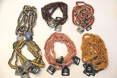 NEW Wholesale Joblot 36pcs Colourful Mix Wooden Beaded Necklace Bracelet