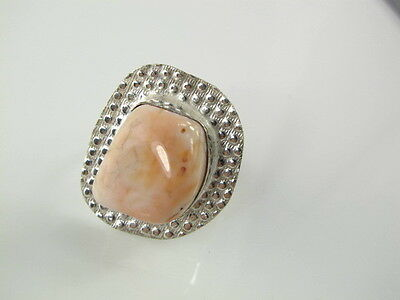 Appealing Natural Agate Silver Ring Size 9.0     AGR252