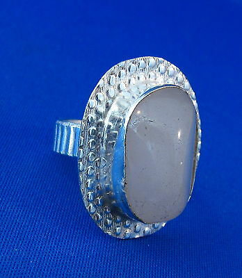 Attractive Natural Agate Silver Ring Size 9.25    AGR250
