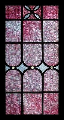 Rare Amazing Pink Ripple Glass English Antique Stained Glass Window