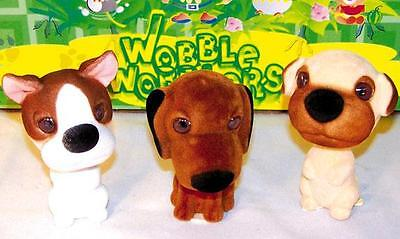2 ASSORTED BOBBLE HEAD MUTTS bobbing car dash dog moving heads novelty toy new