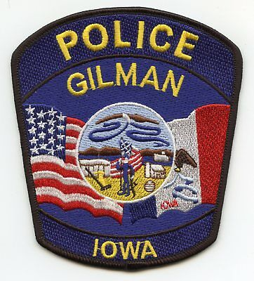 Gilman Iowa Ia Police Patch