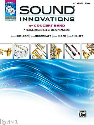 Sound Innovations for Concert Band B-Flat Clarinet Book 1 incl. MP3 CD and DVD