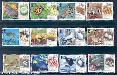 Ascension Island Animals And Their Eggs Definitive Set Of 12 Butterfly Fish Bird