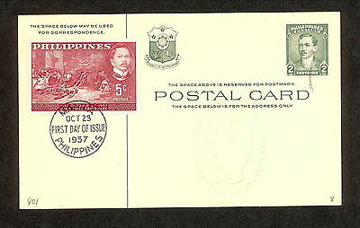 WC5287 1957 Philippines First Day Cover
