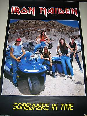 """Iron Maiden  """"Somewhere in Time""""  #3089   group Poster  Exc.+ new cond./ 22x34"""""""