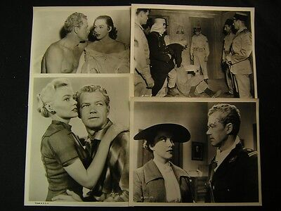 1958 Bill Williams Legion Of The Doomed VINTAGE 4 Movie PHOTO LOT 13W