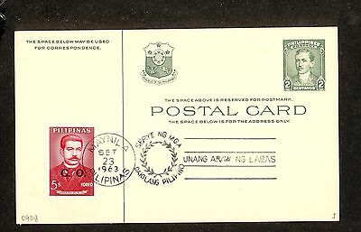 WC5319 1963 Philippines First Day Cover Postal Card