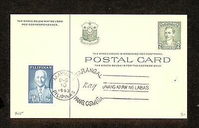 WC5321 1963 Philippines First Day Cover Postal Card