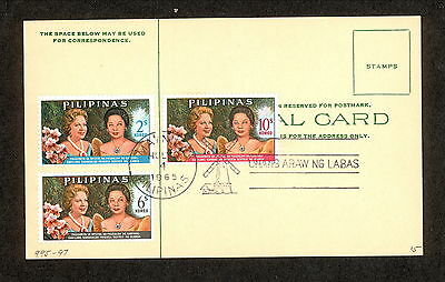 WC5338 1965 Philippines First Day Cover Postal Card