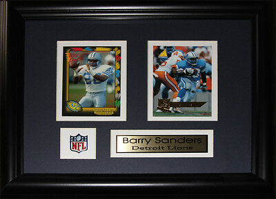 Barry Sanders Detroit Lions NFL Museum framed cards Free Shipping