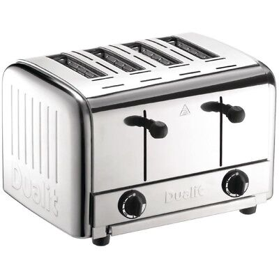 DUALIT Toaster 4 slice Catering pop up Buffet Toaster 4 Schlitze Edelstahl CNS