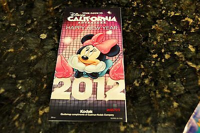DISNEYLAND HAPPY NEW YEAR MICKEY MOUSE MAIN GATE MAP 2012