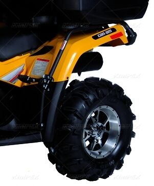 Can Am Outlander Atv Fender Guard Passenger Foot Pegs Double Ride 2012 And Up